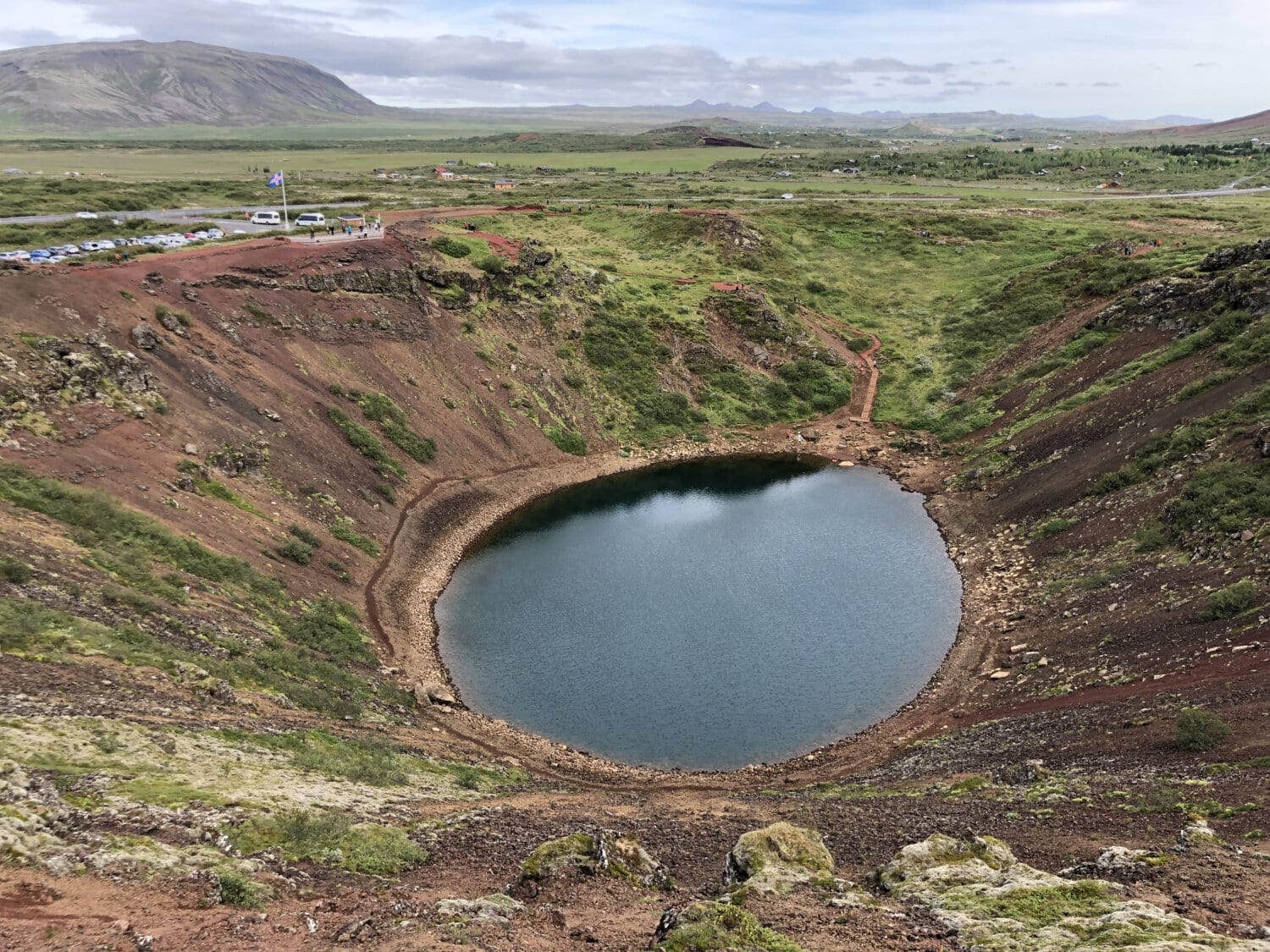 lake, landscape, volcano, crater, nature, eruption, water, mountain, volcanic, hill