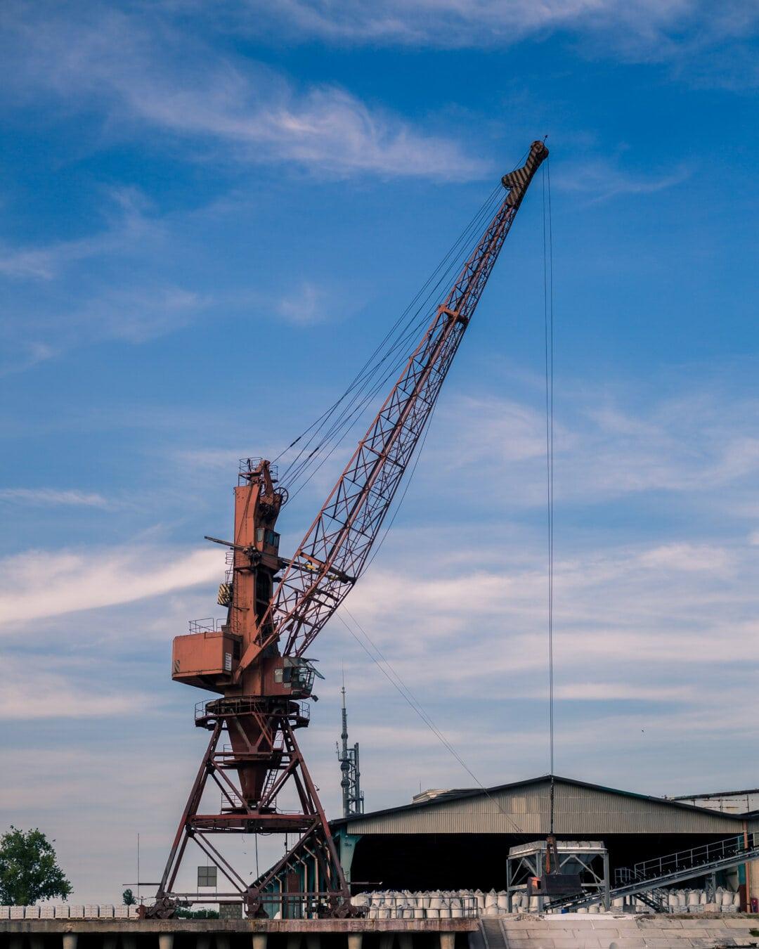 secteur d'activité, Factory, Crane, machine, lourdes, Cargo, construction, en acier, machines, industriel