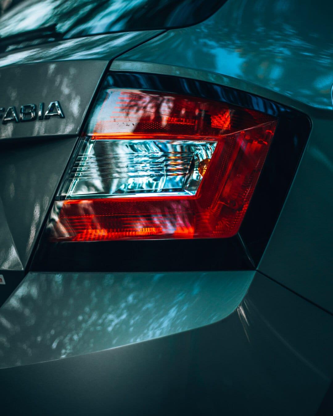 バンパー, Skoda, 光, 金属, ダイオード, 反射, 車, 明るい, 技術, シャイニング ・