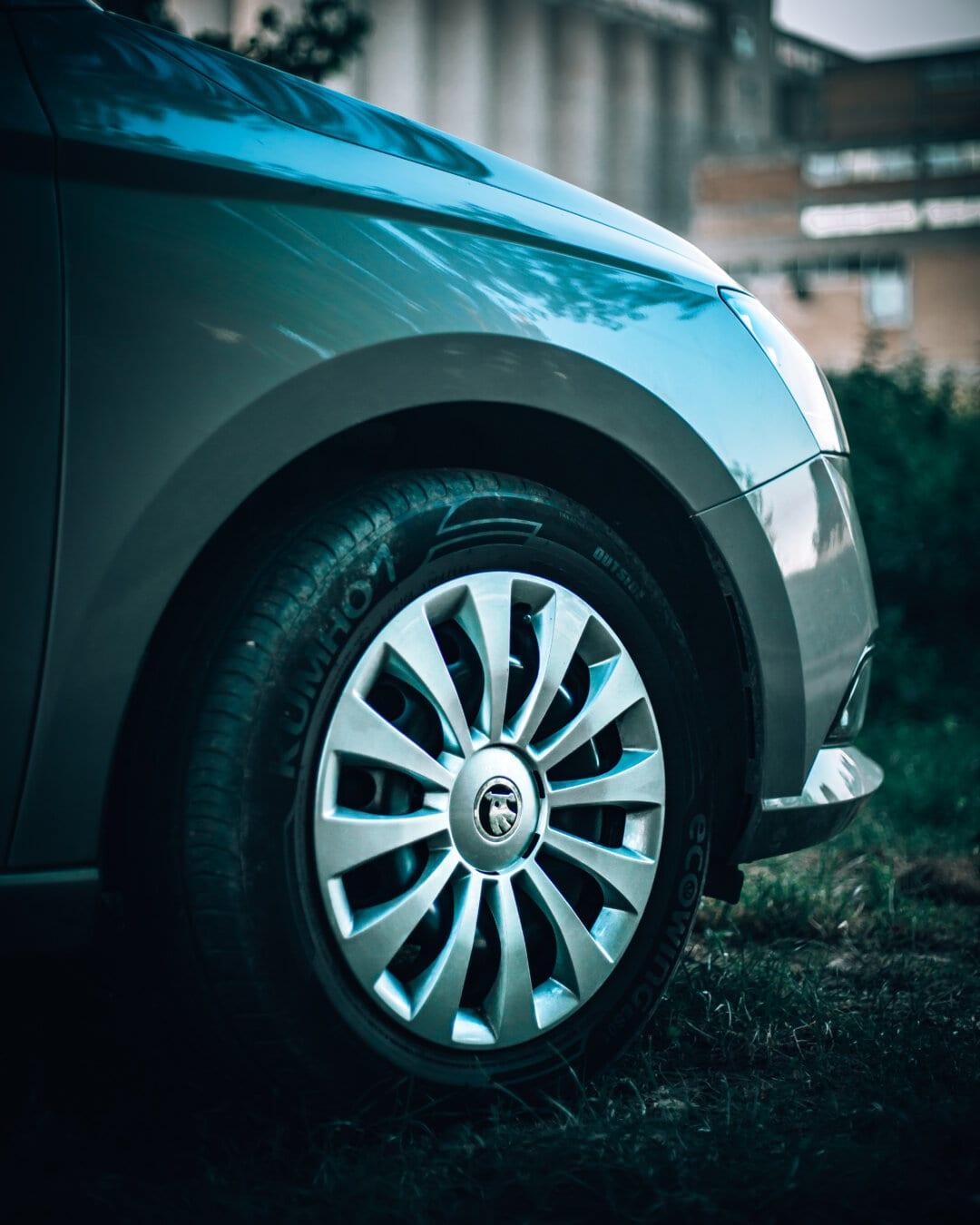 車, 縁, Skoda, タイヤ, アルミ, 反射, ラジアル, 合金, マシン, ホイール