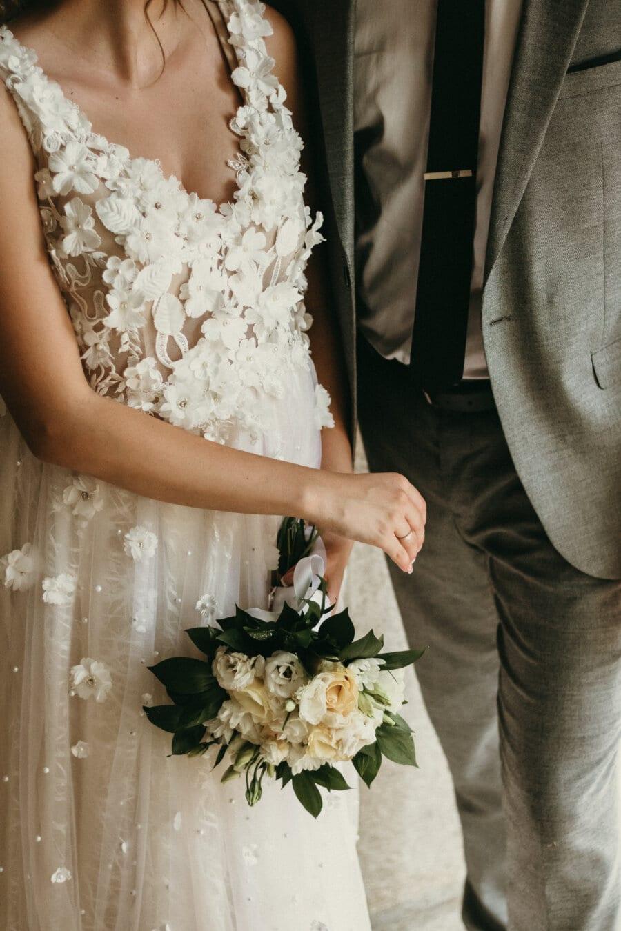 พิธี, จับมือ, งานแต่งงาน, ช่อดอกไม้งานแต่ง, สามี, ภรรยา, เจ้าสาว, การแต่งงาน, ความรัก, ดอกไม้