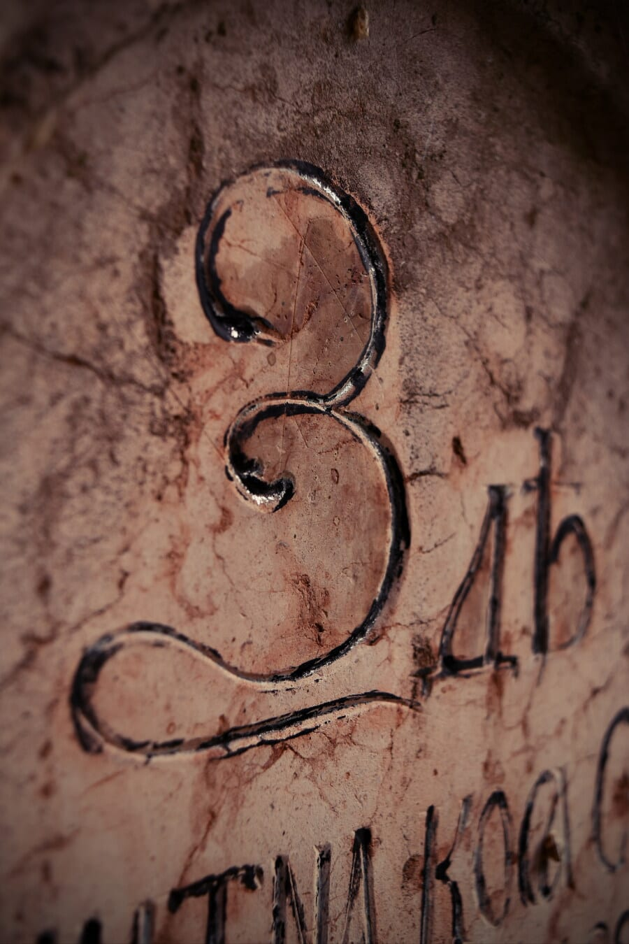 typografi, tekst, alfabetet, kyrillisk, historiske, gamle, symbolet, granitt, Graffiti, skitne