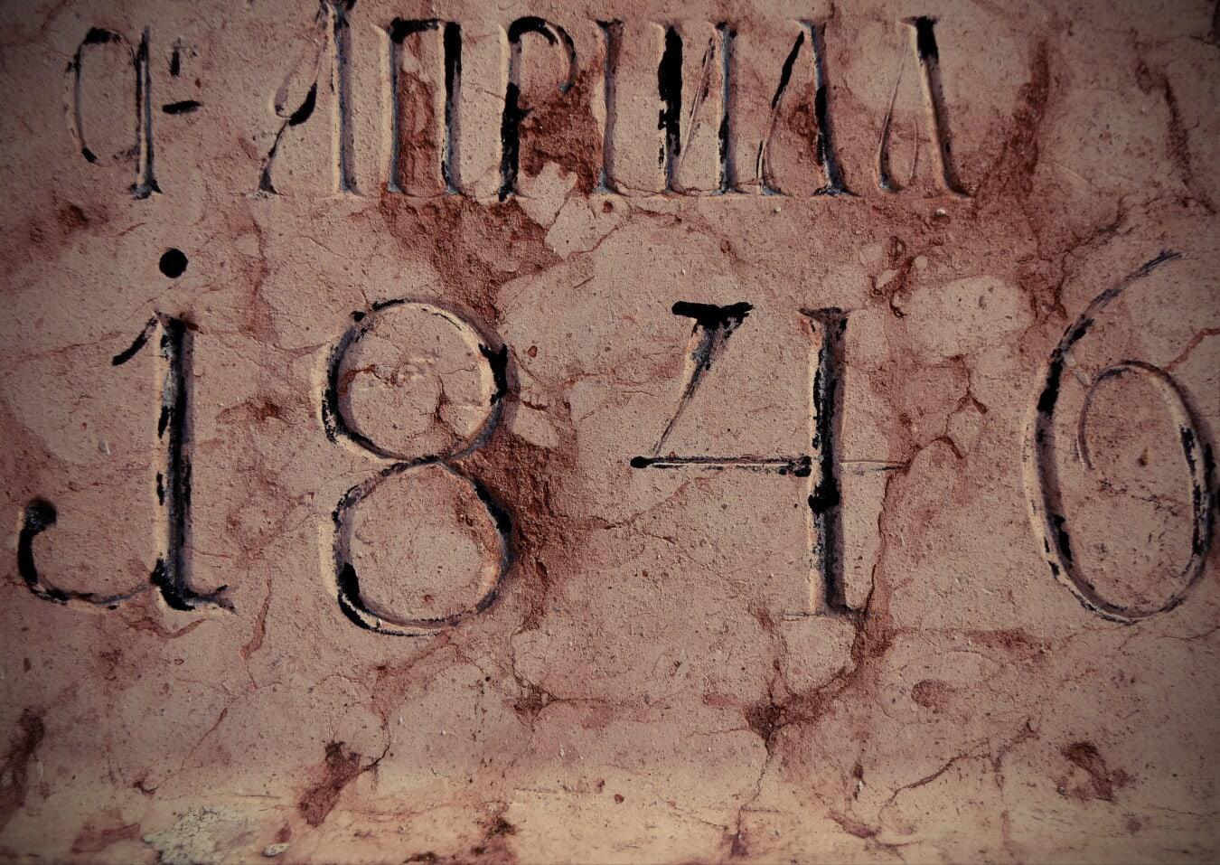 Verfall, Kyrillisch, Text, Alphabet, Typografie, Wand, Dekoration, Textur, Grunge, Antike