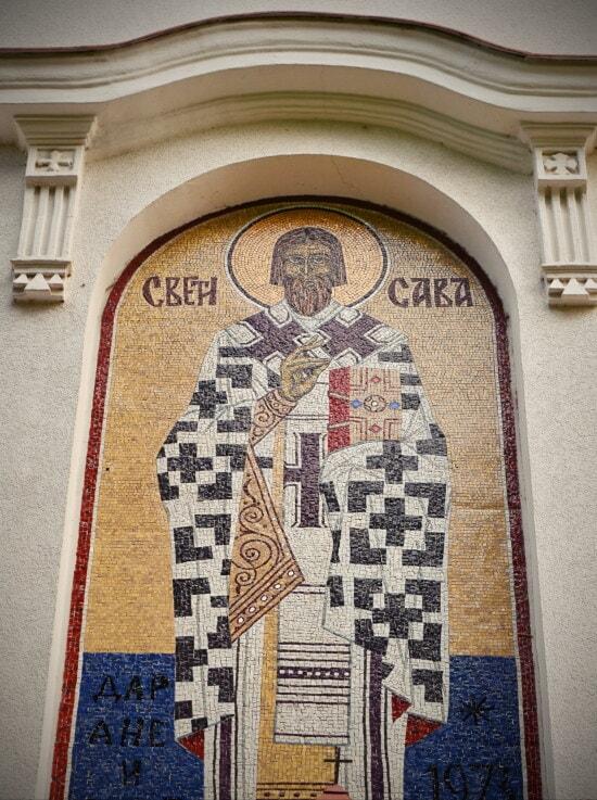 aziz, Sırbistan, Mozaik, simge, Bizans, ortodoks, mimari, sanat, eski, tasarım