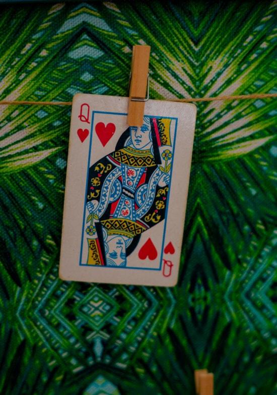 Queen, Karten, hängende, Seil, Kasino, Glück, Risiko, Karte, Spiel, Spaß