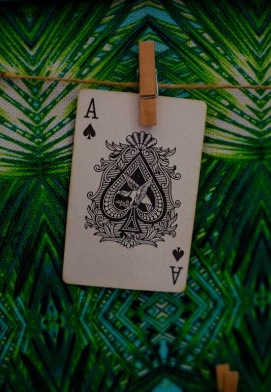 kartı, As, asılı, oyunu, Casino, kağıt, siyah ve beyaz, dekorasyon, iç tasarım, sanat