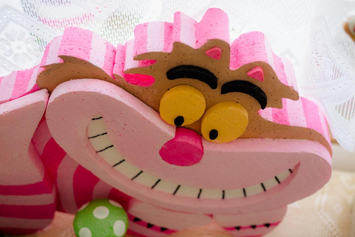 lustig, Spielzeug, Rosa, Monster, Gesicht, Lächeln, Feier, Geburtstag, Spaß, hell