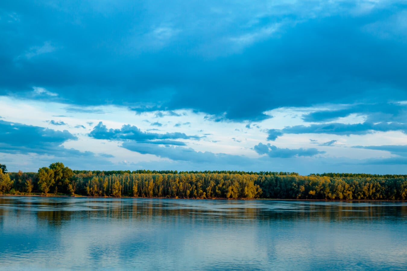 river, Danube, landscape, Europe, clouds, reflection, water, nature, outdoors, summer