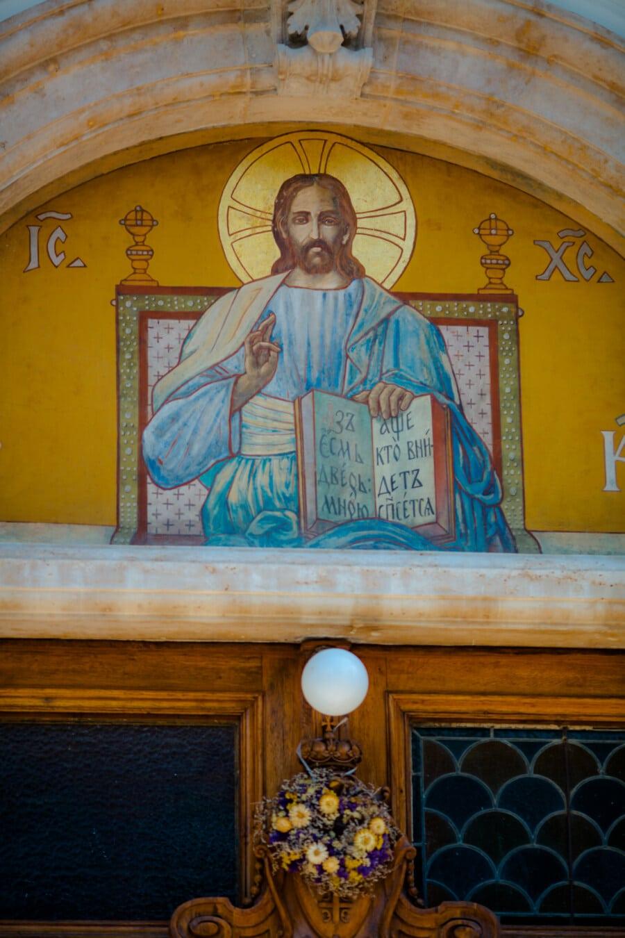 icon, saint, fine arts, Byzantine, orthodox, structure, church, religion, architecture, chapel
