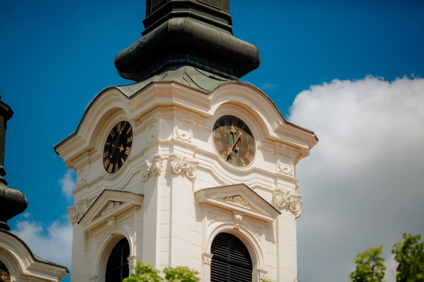 church, church tower, analog clock, architectural style, orthodox, baroque, building, architecture, religion, cathedral