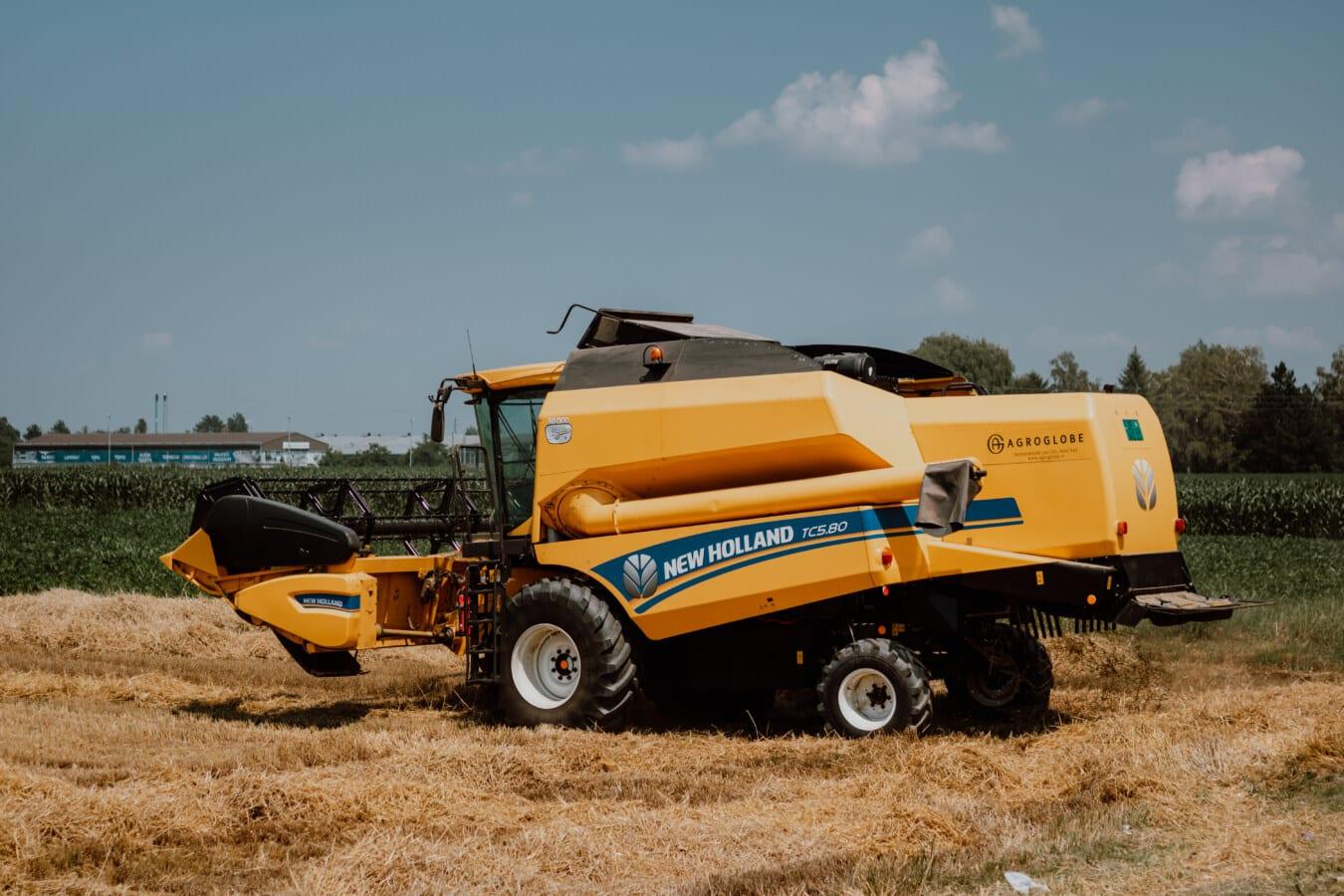 Fahrzeug, Harvester, Maschine, Harvest, Weizenfeld, Weizen, landwirtschaftlich, Feld, Branche, Ausrüstung