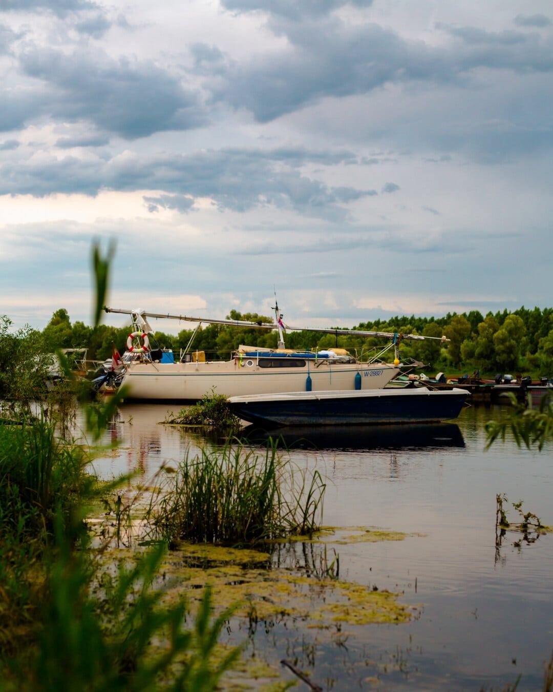 sailboat, dock, lakeside, boat, boats, water, marina, lake, river, beach