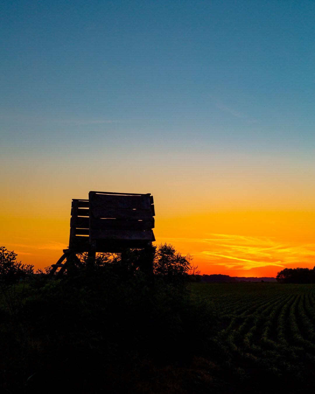 Feld, landwirtschaftlich, Sonnenuntergang, Atmosphäre, des ländlichen Raums, Gras, Dämmerung, Landschaft, Sonne, Natur
