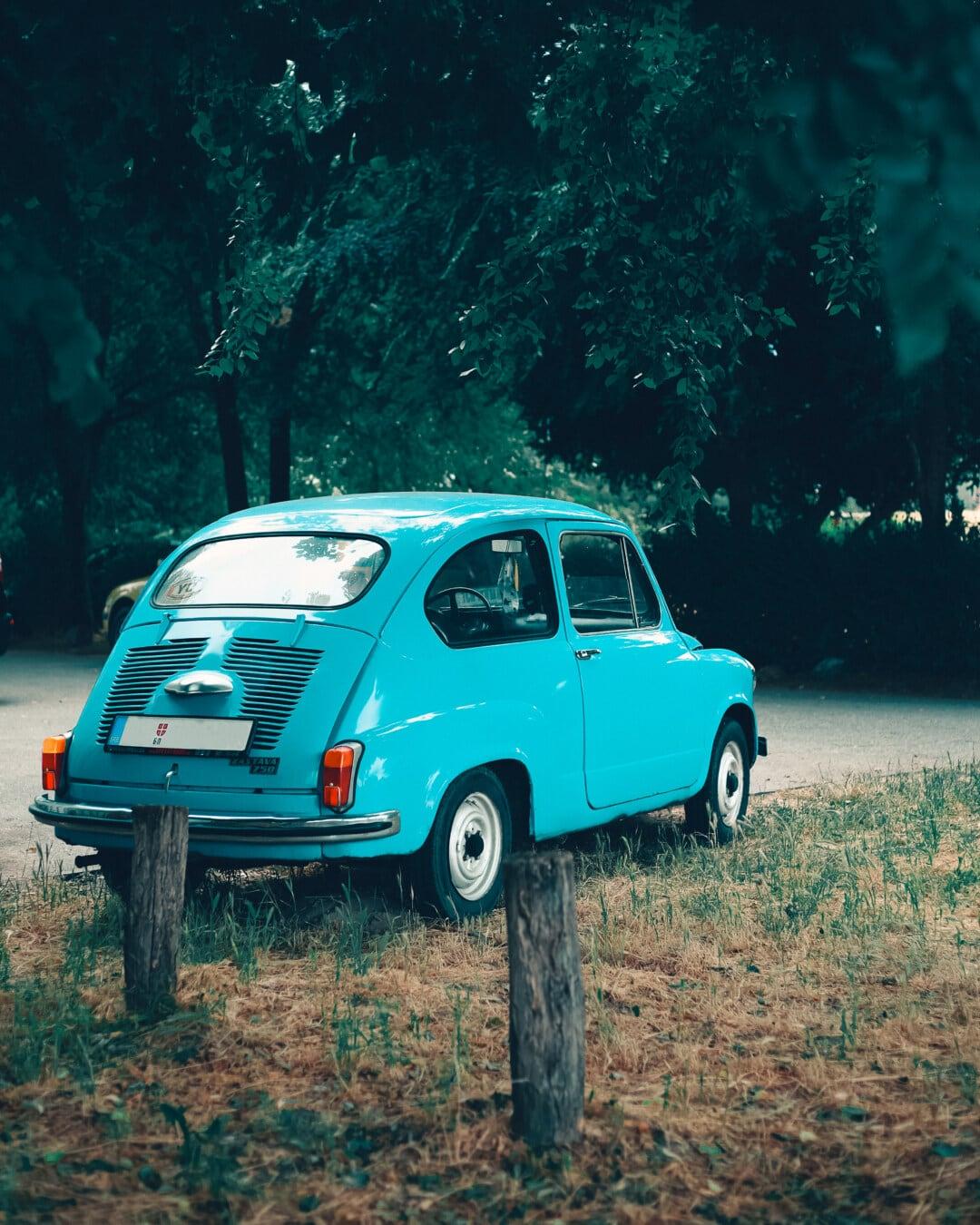 small, oldtimer, car, nostalgia, Yugoslavia, Serbia, transport, drive, transportation, automobile