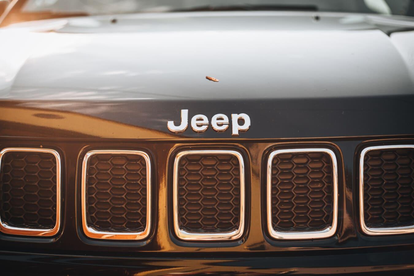 Reflexion, Sonnenlicht, Jeep, Auto, Fahrzeug, Chrom, Kühlergrill, Klassiker, Luxus, Haube