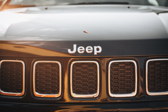 reflection, sunlight, jeep, car, vehicle, chrome, grille, classic, luxury, hood