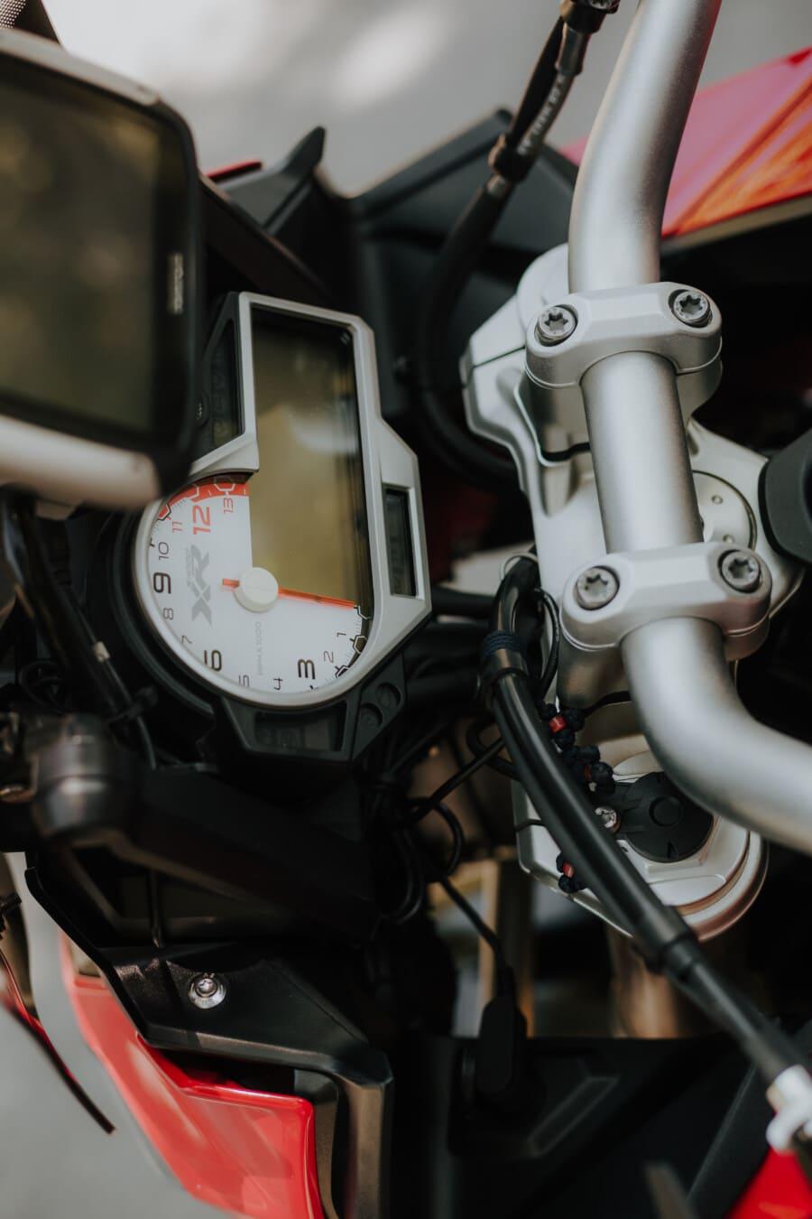 speed limit, motorcycle, speedometer, dashboard, steering wheel, gauge, gearshift, motorbike, device, bike
