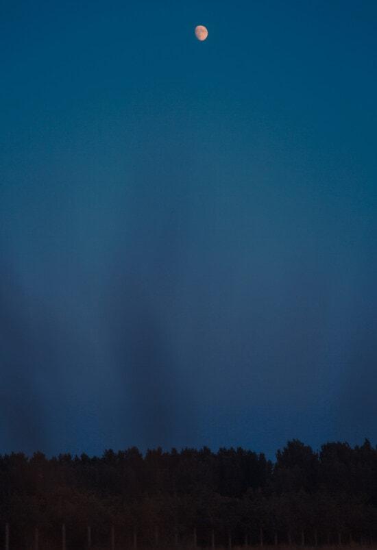 luz de la luna, paisaje lunar, Luna, azul oscuro, cielo azul, noche, noche, paisaje, atmosfera, tiempo en