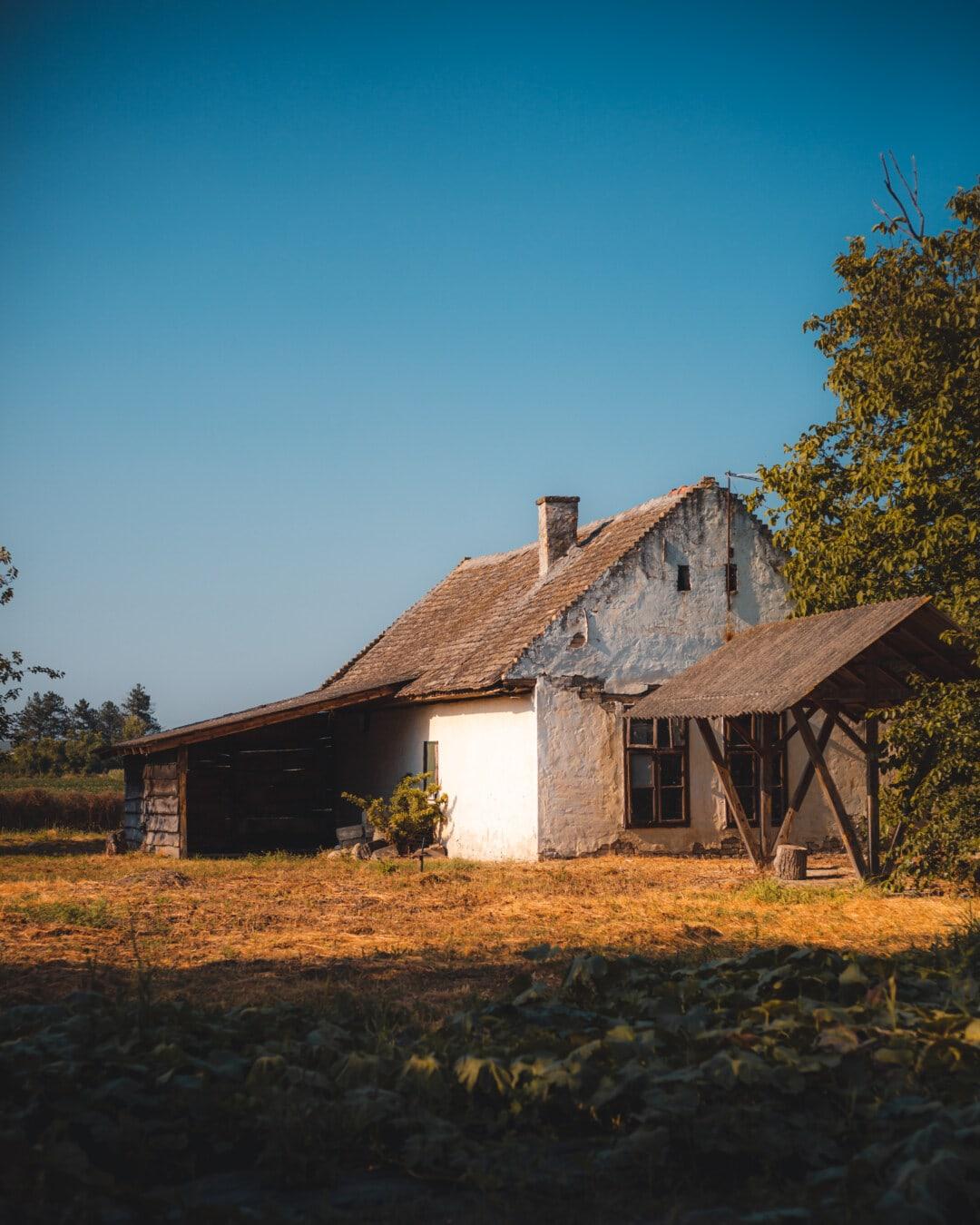 селска къща, земеделска земя, задния двор, ферма, село, селски, изоставени, гниене, Домашно огнище, структура