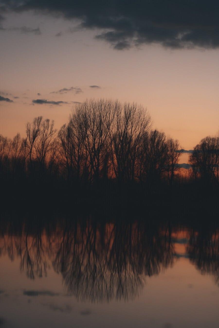 Wasser, Reflexion, majestätisch, Dämmerung, Sonnenuntergang, Dämmerung, Sonne, 'Nabend, Landschaft, See