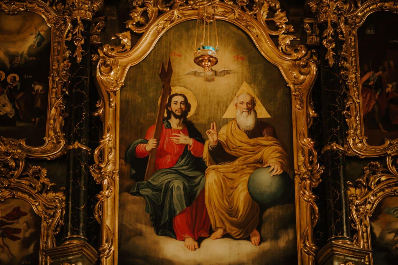 Heilige, Bildende Kunst, Altar, Christentum, orthodoxe, Stil, Barock, Frame, Kirche, Malerei