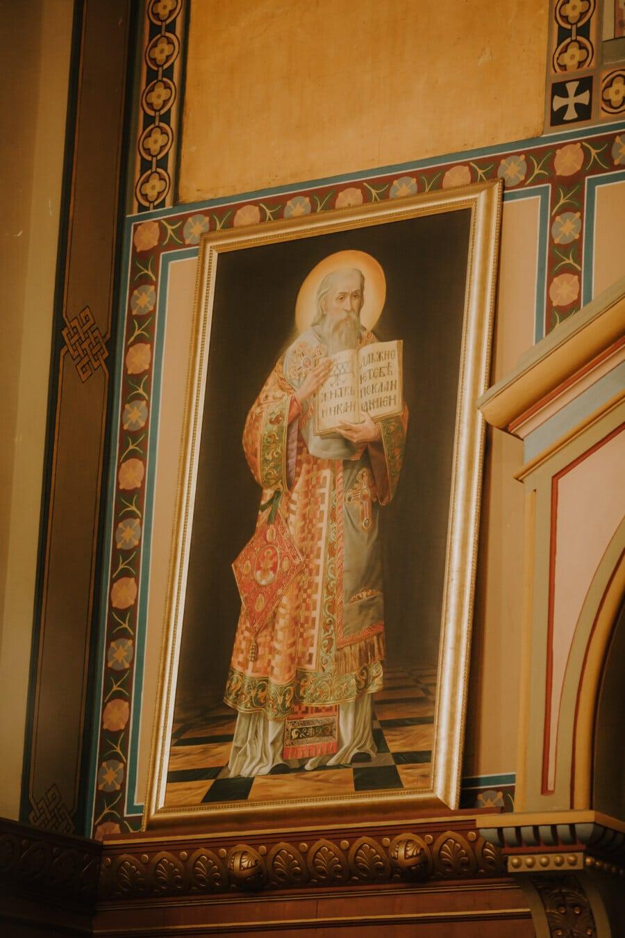 Wand, Heilige, Bildende Kunst, orthodoxe, Kapelle, Kirche, Religion, Porträt, Kunst, Malerei