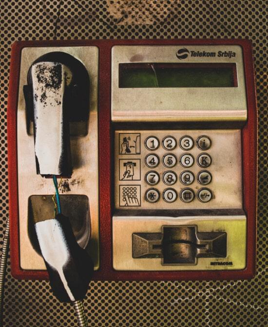 Telefon, Telefonleitung, Klassiker, alten Stil, Verfall, Jahrgang, Nostalgie, alt, Antik, Dienst