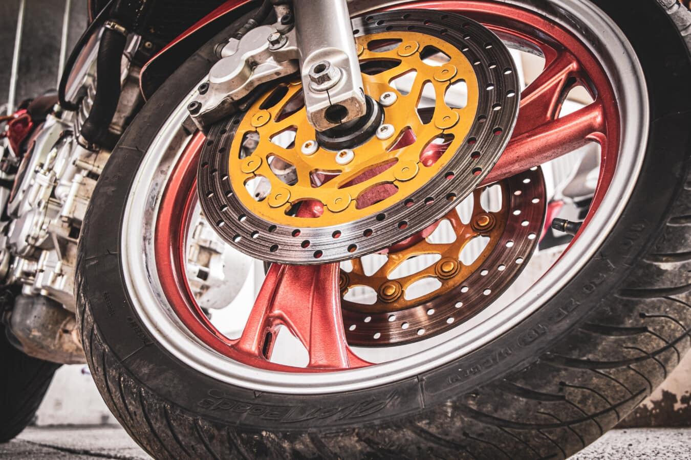 spektakuläre, Motorrad, Festplatte, Reifen, Bremse, Garage, Parkplatz, Rad, Felge, Fahrrad