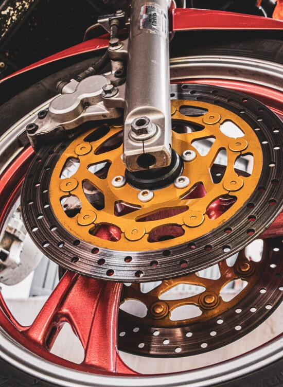 Reifen, aus nächster Nähe, Motorrad, Festplatte, Bremse, Aluminium, moderne, Rad, Fahrzeug, Technologie