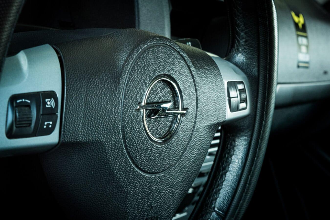 volant de direction, Airbags, tableau de bord, voiture, panneau de commande, véhicule, en voiture, sécurité, chrome, technologie