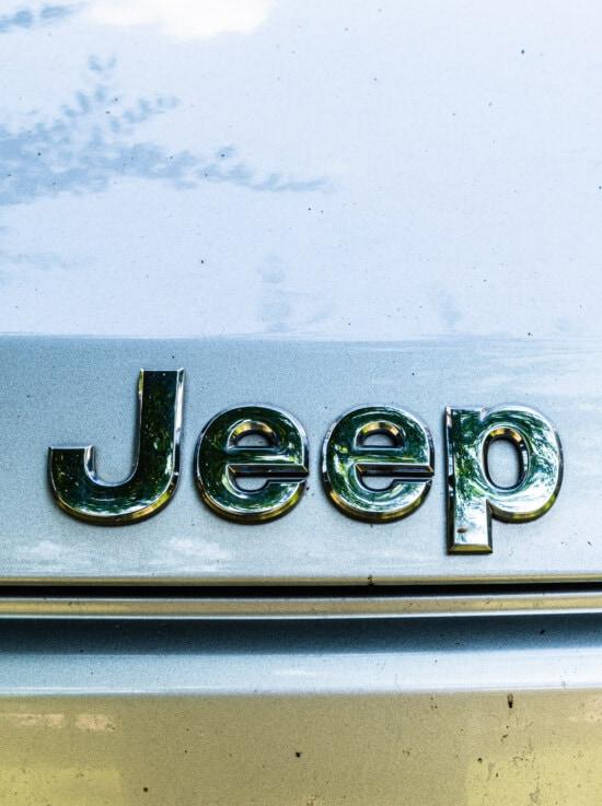 Jeep, Auto, automotive, Symbol, Zeichen, metallische, Reflexion, Chrom, Text, Jahrgang