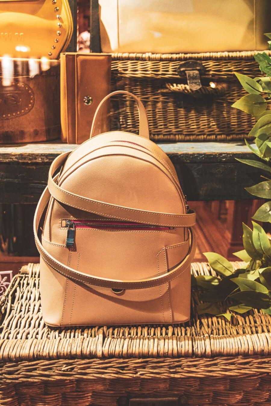 Leder, Handtasche, hellbraun, Weidenkorb, Altmodisch, Jahrgang, Shop, Korb, Mode, Holz