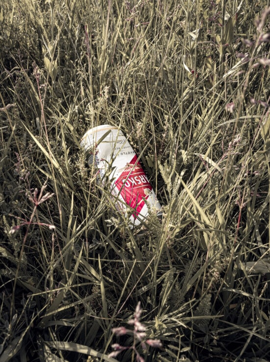 garbage, waste, old, aluminum, recycling, grass, summer, outdoors, abandoned, trash