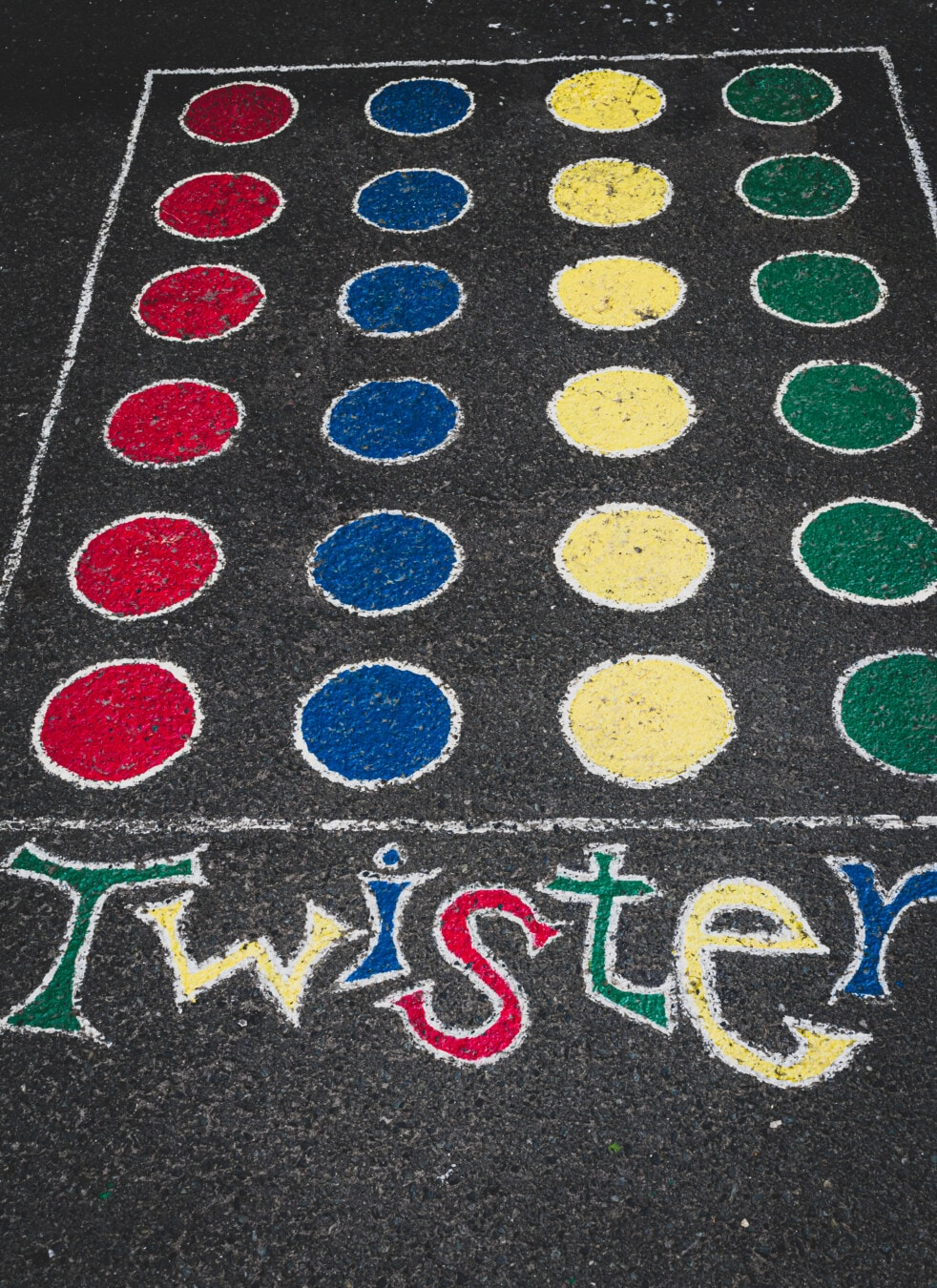 Twister game, texture, pattern, abstract, design, color, symbol, sign, art, street, road