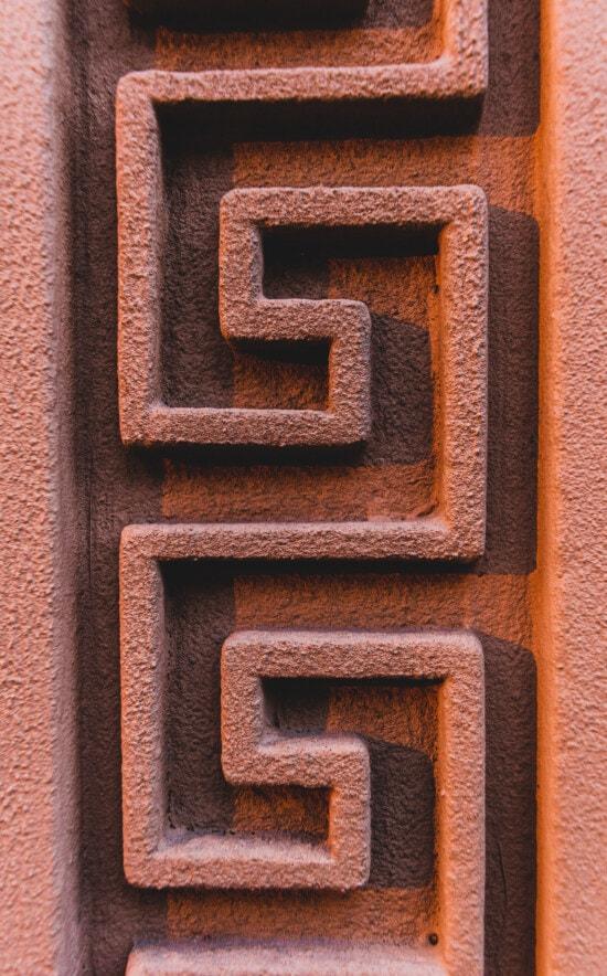 modèle, vertical, géométrique, conception, Grèce, décoration, arabesque, texture, signe, solide