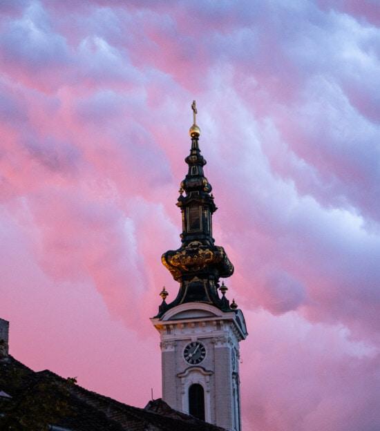 vreme rea, furtuna, Turnul Bisericii, ortodoxe, Bizantin, arhitectura, Turnul, biserica, ceas, oraș