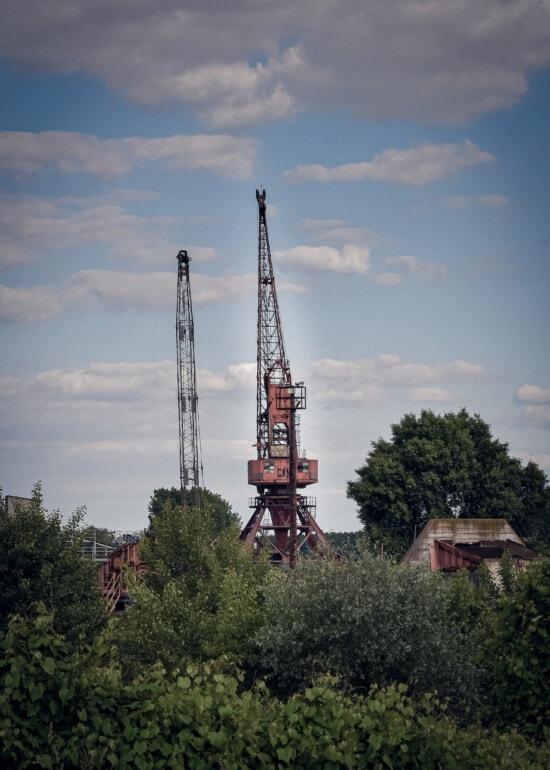 Kran, Turm, Struktur, Gerät, Bau, Branche, Architektur, Technologie, Stahl, im freien
