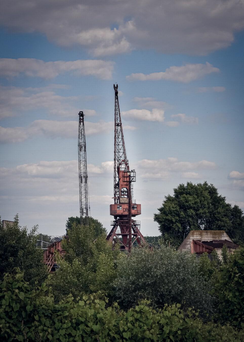Crane, tour, structure, unité, construction, secteur d'activité, architecture, technologie, en acier, à l'extérieur