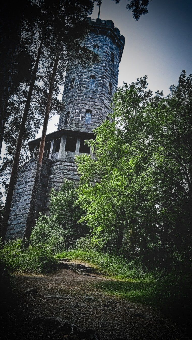 fortification, castle, stones, stone wall, forest, tower, architecture, tree, old, landscape