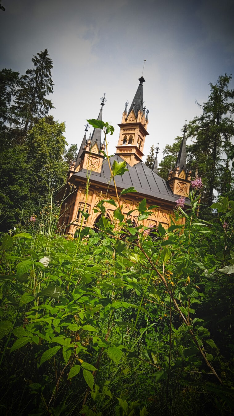castle, residence, traditional, flower garden, building, architecture, religion, palace, tree, wood
