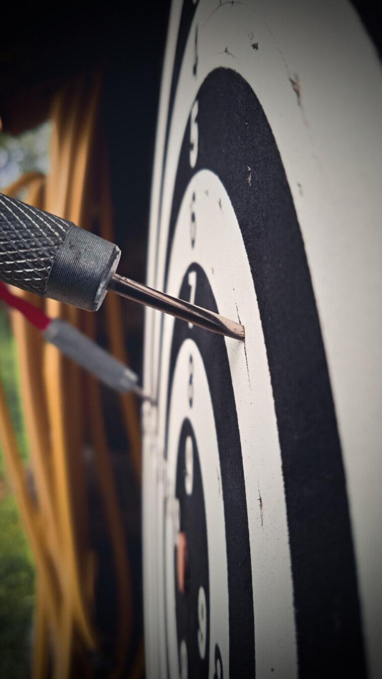 Pfeilspitze, Edelstahl, Präzision, Ziel, Sport, Spike, Werkzeug, Hand-Werkzeug, verwischen, alt