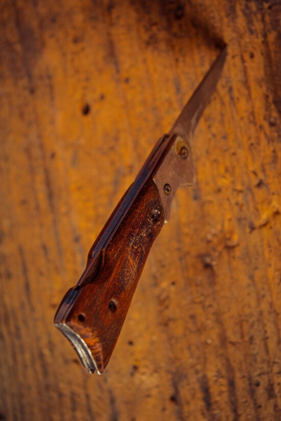 hand tool, knife, old style, stainless steel, sharp, blade, plant, wooden, steel, retro