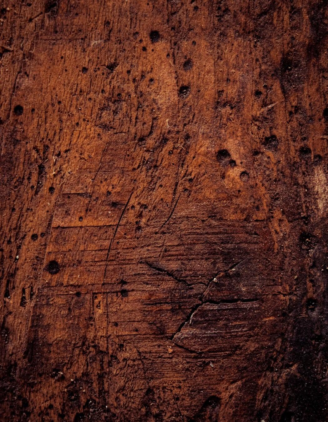 planche, textile, brun, bois franc, nœud, poussière, tache, sale, surface, vintage