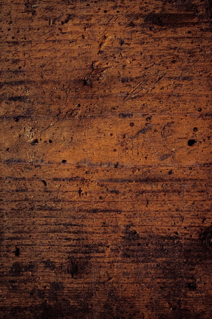 sciure de bois, surface, en bois, carie, bois franc, chêne, planche, vintage, rouille, brun clair