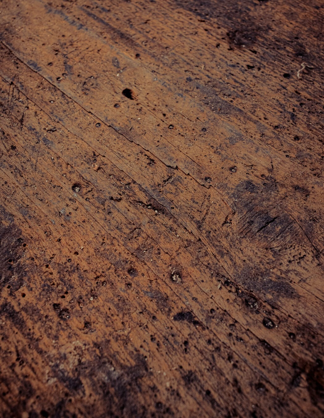 planche, en bois, tache, texture, nœud, sale, carie, brun, vertical, Rough