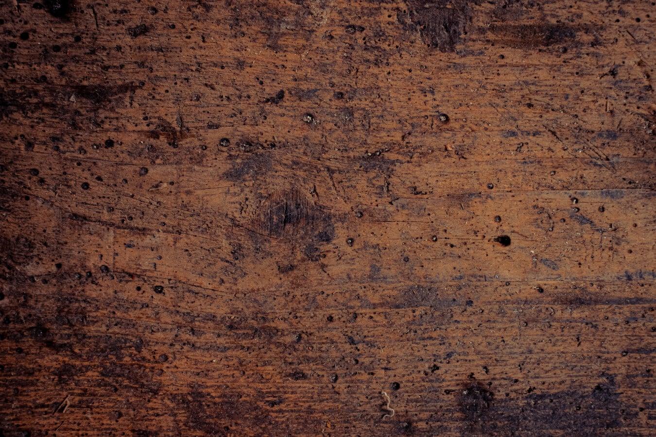 Verfall, Knot, Jahrgang, Textur, Plank, Eiche, Braun, Planken, dreckig, Dunkel