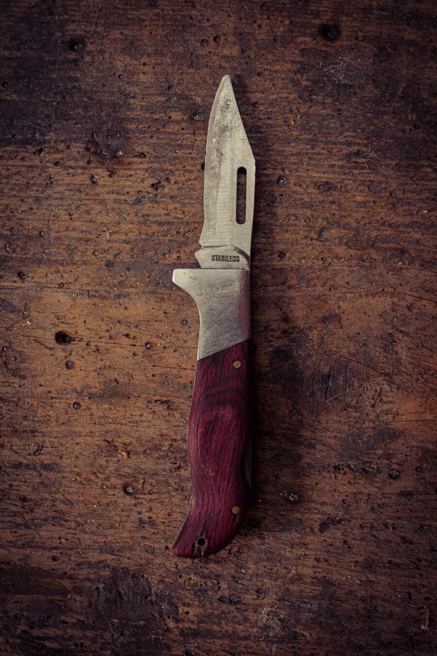 outil à main, couteau, lame, outil, en acier inoxydable, tranchant, fait main, vertical, fer, retro