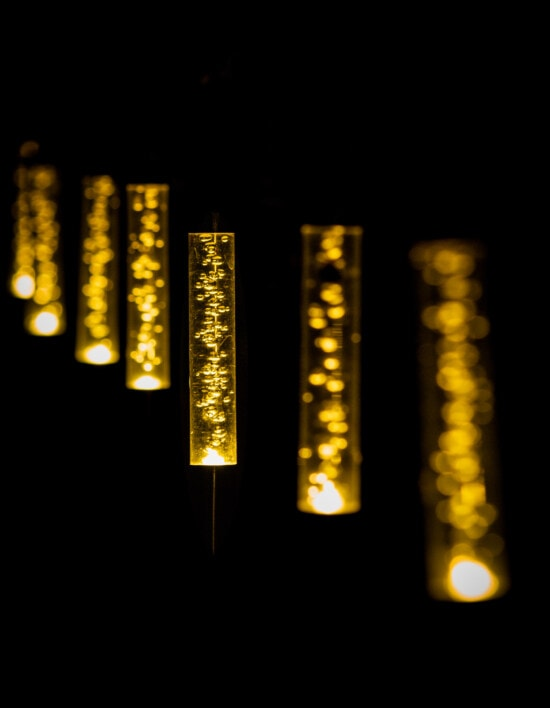ténèbres, nuit, lampe, lanterne, plastique, ampoule, babiole, lumière, illuminé, sombre
