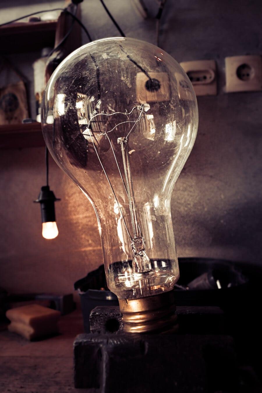 light bulb, workshop, repair shop, electronic, close-up, electricity, lamp, light, bulb, glass