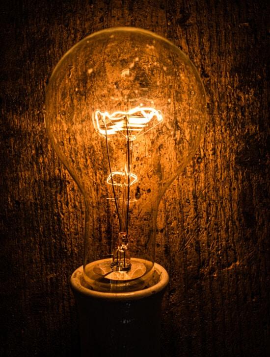 ampoule, brillant, fluorescent, vintage, filament, luminescence, lumière, ampoule, électricité, sombre